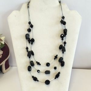 Gorgeous Chico's Black Beaded Necklace